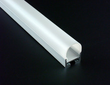 10x1m 2027 Aluminium Profile fitted with OPAL PC cover for width up to 16mm led strips ceiling pendant hanging lighting(China)
