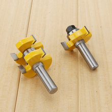 2pcs 1/2 Shank Tongue and Groove Joint Assembly Router Bit Set Woodworking Groove Chisel Cutter Tool NG4S