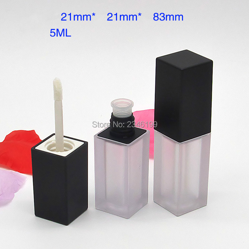 Pumpkin Color Lip Gloss Tube 5ml Transparent Lip Glaze Tube Cosmetic Container Lipgloss Packaging Empty Lip Gloss Container (4)