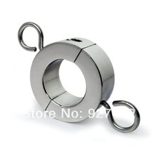 stainless steel Scrotum Stretchers metal Locking Hinged Ball  Weight for CBT Chrome Finish cock ring sex toy in adult product