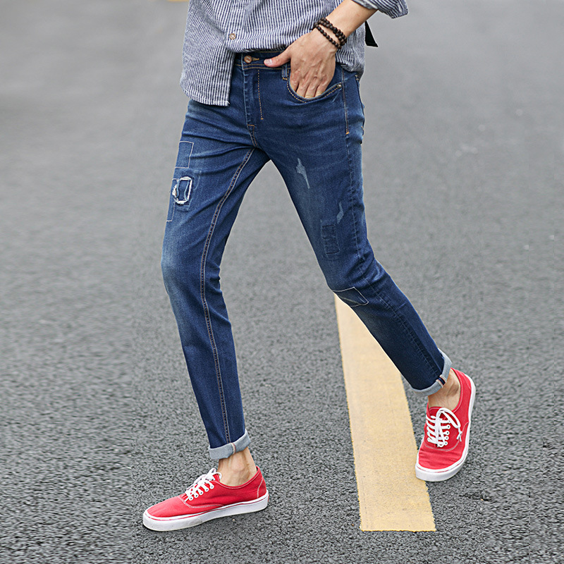 2017 New Fashion High Quality Famous Brand Men Classic Stretch Jeans Denim Jeans Casual Slim Fit Washed JeansОдежда и ак�е��уары<br><br><br>Aliexpress