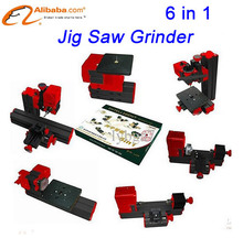 Jig saw Grinder Driller 6 in1 tools Motorized Mini CNC Machine, DIY Lathe Machine For Wood and Soft Metal
