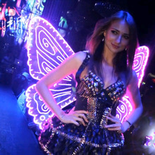 DHL Free Shipping LED lighting Wings stage Costume Men And Women Performance Large Led Wings 7 color