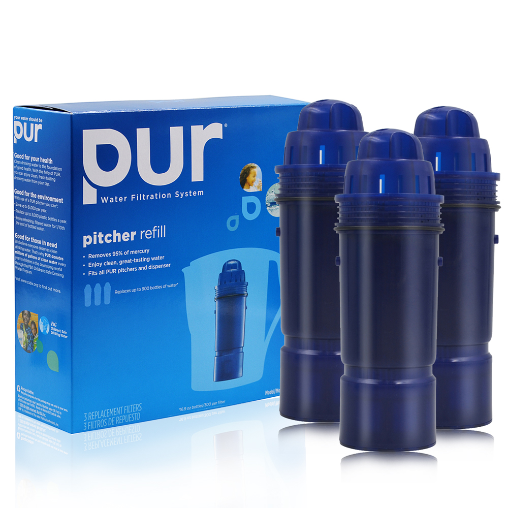 New Household Water Clean Purifier Filter Activated Carbon Filter Replacement PUR Water Pitcher Filter CRF-950Z 2-Stage 1 Pack<br>