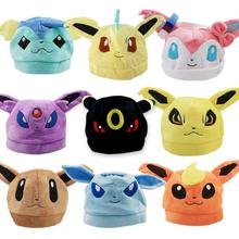 Free Shipping Japanese Anime Pokemon Cute Eevee Umbreon Sylveon Snorlax Soft Cap Pokemon Costume Hat(China)