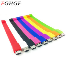 FGHGF 100% real capacity Silicone Bracelet Wrist Band pendrive 16GB 8GB USB 2.0 USB Flash Drive memory Stick U Disk Pendrives(China)