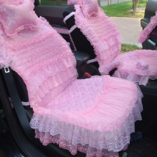 16 pcs Cascade bloom flowers lace skirt Car Seat Covers Pad cushion pink women universal car accessories car styling HB25(China)