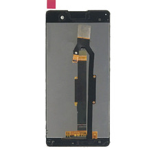 Black Full Touch Screen Digitizer Sensor Glass Lens + LCD Display Monitor Screen Panel Assembly for SONY Xperia E5 F3311 F3313(China)