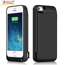 For iPhone 5 / 5S / SE / 5C [4600mah] Built in USB Power Bank Capacity (Up to 2X Extra Battery) Screen Protector Battery Case(China)