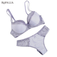Fashion Lady Bra Brief Sets Lace Push Up Bra Set Women Underwear Girl Sexy lingerie(China)