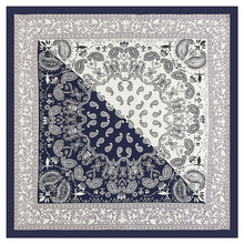 MENGLINXI 60cm*60cm 2017 Fashion Women Luxury Brand Twill Silk Scarf Bandanna Paisley Print Small Square Scarves Hijab Headband