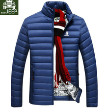 DOWN JACKET MEN Brand Clothing Spring Ultra Light Casual Parkas Stand Collar Coat Male Warm Fashion White Duck Down Jacket Men(China)
