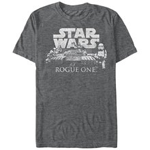 Star Wars Rogue One Stormtrooper Tank Scene Logo Mens Graphic T Shirt(China)