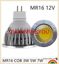 YON 10pcs Super deal MR16 COB 3W 5W 7W 10W LED Bulb Lamp MR16 12V ,Warm White/Pure/Cold White led LIGHTING(China)