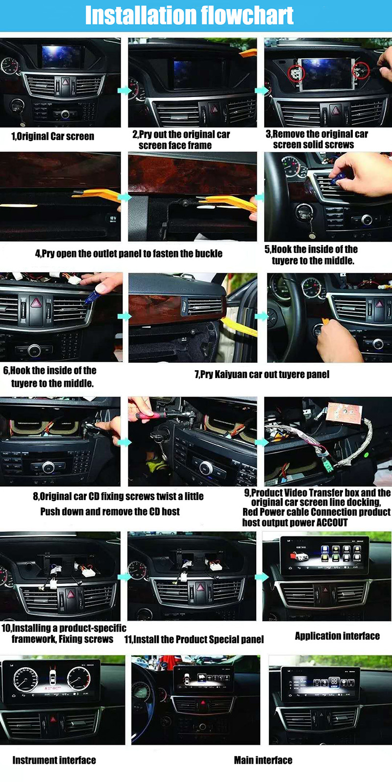 Liislee Car Multimedia Player NAVI For Mercedes Benz MB E Class W212 S212 C207 A207 2009~2017 Car Radio Stereo GPS Navigation (9)
