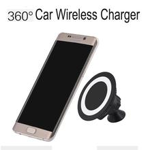 Universal Car Qi Wireless Charger For Samsung Galaxy s7 s7 Edge Note 5 S6 S6 Edge For iPhone 6 6 Plus With Sticky Holder