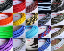 "6MM 1/4"" TIGHT Braided PET Expandable Sleeving Cable Wire Sheath Black/Red/Orange/Yellow/Green/Blue/Purple/Gray/White/Clear(China)"