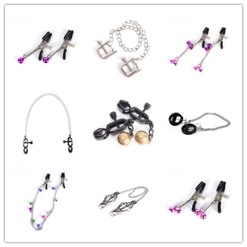 Nipple Clamps With Metal Chain Sex Slave Exotic Accessories Bdsm Milk Clip Breast Clip Flirt Nipple Clamps For Women Couples