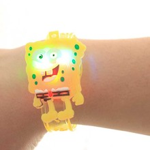 Sale 1pcs Kids Festival Light Up Toys Cute Cartoon Bracelet Watch Children Small Gifts Toy FREE SHIPPING