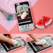 i6 i7 Lovely rubber Cute Soft Silicone Case For Iphone 7 Case for 6s 7P Elastic Kneaded Case 3D Knead Squishy Cover Cortex Shell