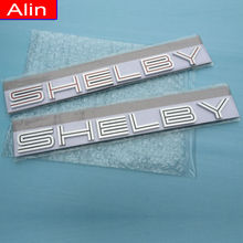 10pcs wholesale 3D ABS SHELBY logo rear trunk Emblem front Badge Sticker car styling for super snake COBRA Mustang GT350 GT500
