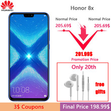 Huawei Honor 8X Portable 6.5 pouce Écran 3750 mah Batterie Android 8.2 Double Retour 20MP Caméra Multiples Langue Smartphone(China)