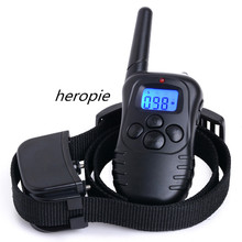 Heropie Dog Trainer 300M Waterproof Rechargeable LCD Remote Pet Cat Dog Training Collar Electric Shock Large Dog Control Hot(China)