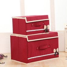 T bow-knot Large Capacity Storage Box Non-Woven Fabric Dirty Clothing Laundry Clothing Shoes Storage Organizer Box Bin