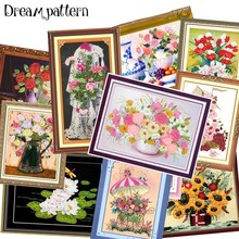 Clear stock very very cheap, Ribbon embroidery kit set rose flowers stain handcraft kit DIY handmade needlework art home decor(China)