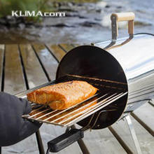 Best selling Portable Electric Smoker Outdoor use Stainless Steel Barbeque BBQ Grills Pipe/Cylinder Hot smoking of Salmon,Meat(China)