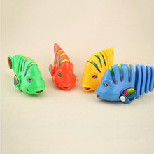 Clockwork Toys For Children Multi-Segment Connection Rocking Fish Wind Up Toy lol Surprises Wholesale Random Colors(China)