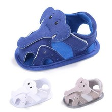TongYouYuan Unisex Baby Boys Girls Cartoon Elephant Summer Shoes Beach Hollow Crib Babe Footwear For Infant Toddler Kids
