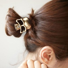 1PCS Vintage Punk Metal Skull Hairband Hair Rope Halloween Costume Hot Women Fashion Summer Style(China)