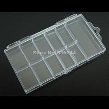 10 Cells Storage Case Container Organizer Empty Box For 100pcs False Tips Glitter Rhinestone Tools Plastic Nail Art Manicure Pro