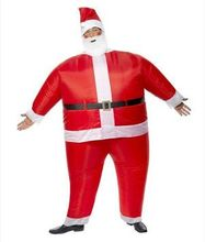 Hot Inflatable Christmas Santa Claus Costume for Women and Men with Beard Hat and Fan christmas costume for adults