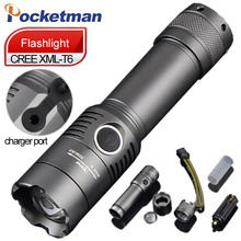 3800 Lumens Powerful LED Flashlight CREE T6 Rechagerable Keychain Torch 3 Modes Tactical Flashlight Zoomable Torche Lampe ZK93(China)