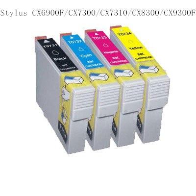 4 INK 73 T0731-T0734 compatible ink cartridge for EPSON Stylus CX6900F/CX7300/CX7310/CX8300/CX9300F printer<br><br>Aliexpress