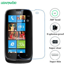udapakoo clear Tempered (soft glass) film for Nokia Lumia 610 N610 Nano Explosion-proof glass Screen Protector