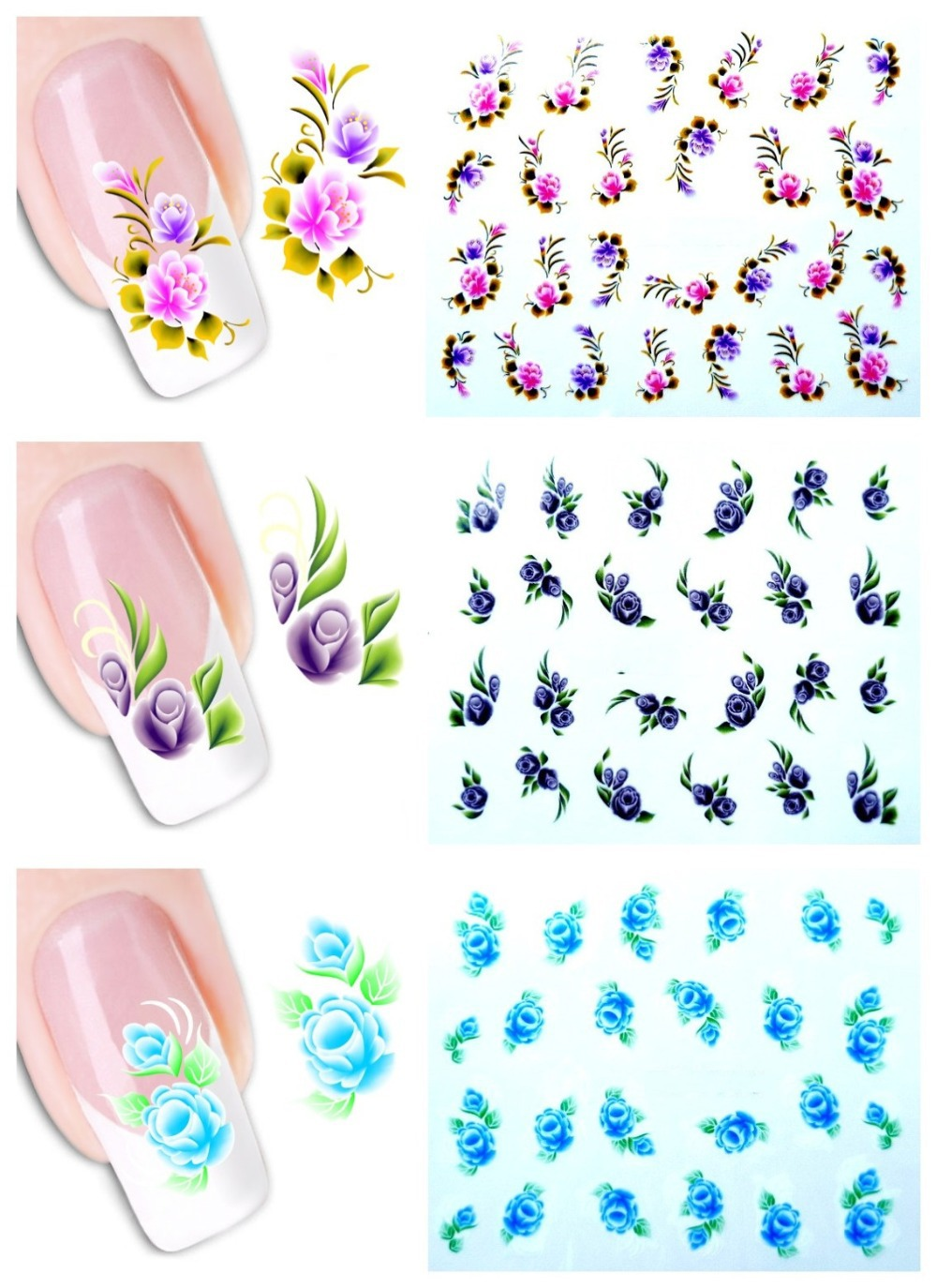 Бабочки на ногтях наклейки