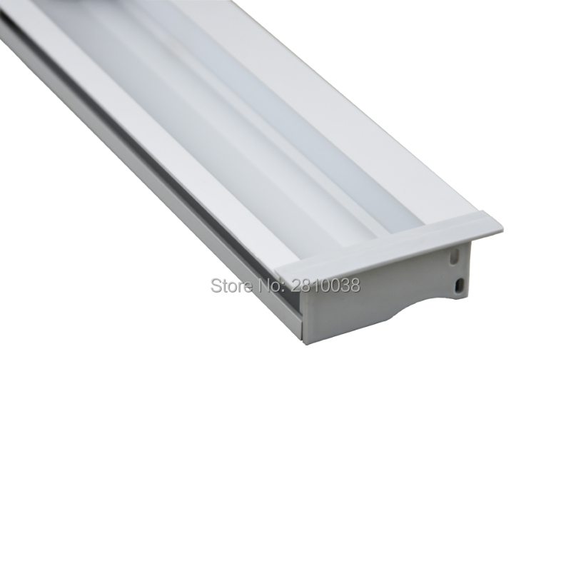 10 X 1M Sets/Lot Anodized aluminium profile for led lighting and aluminium led strip housing for recessed wall lights(China (Mainland))