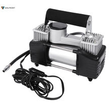 Durable Heavy Duty DC 12V 150 PSI Double Cylinder Air Compressor Pump Electric Car Tyre Inflator Kits For Car Emergency(China)