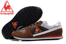 Free Shipping New Styles Le Coq Sportif Men's Running Shoes Sneakers Brown/Orange Cololr 5(China)