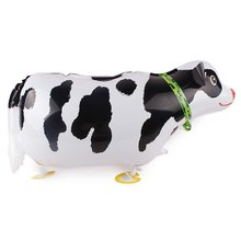 Lucky 10pcs/lot Dairy Cow Walking Pet Balloon Animal Inflatable Foil Air Balloons Birthday Gidts Party Decorations Globos Toys