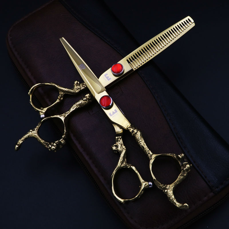 Japan Kasho 6 Inch High Quality Professional Hairdressing Scissors Set Hair Cutting Thinning Barber Shears add Kit Salon <br>