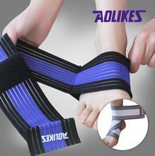 2Pcs /lot 70*7.5cm Ankle Strap Wrapped Elastic Bandages Ankle Injury Strain Guard Protector For Fitness Running Sports Safety(China)