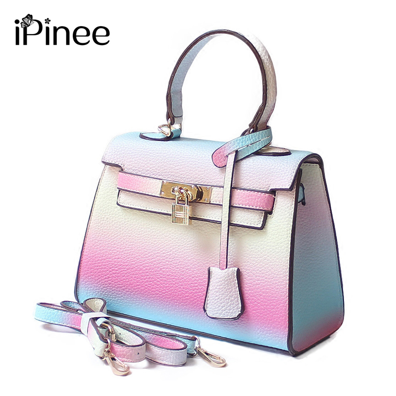 iPinee Fashion Small PU Leather Crossbody Bags Womens Designer Brand Handbags High Quality Rainbow Ladies Shoulder Messenger Ba<br>