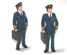 5pcs/lot human figure model toys pilot aviator 10CM home decoration kids toys for children high quality high imitation hot toy(China)