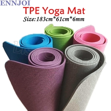 ENNJOI NEW 183*61cm 6MM Thickness Yoga Mat Non-slip Environmental Tasteless Exercise Pad Bodybuilding Mat Sports Accessories(China)