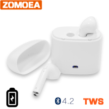 Buy Earbuds Wireless Bluetooth Double Earphones Twins Earpieces Stereo Music Headphone Headset Apple iPhone 8 8 Plus X Headphon for $9.32 in AliExpress store