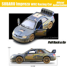 1:36 Scale Antique Finishing Alloy Diecast Metal Car Model For SUBARU Impreza WRC Racing Car Collection Model Pull Back Toys Car(China)